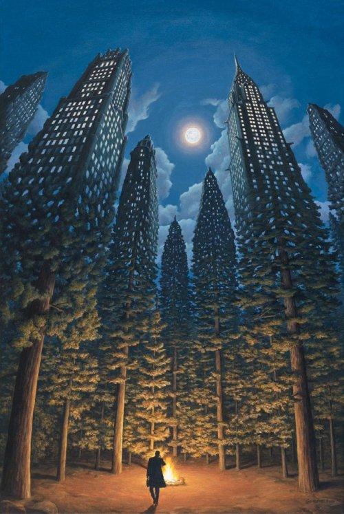 Невероятные оптические иллюзии в картинах Роберта Гонсалвеса (21 фото)