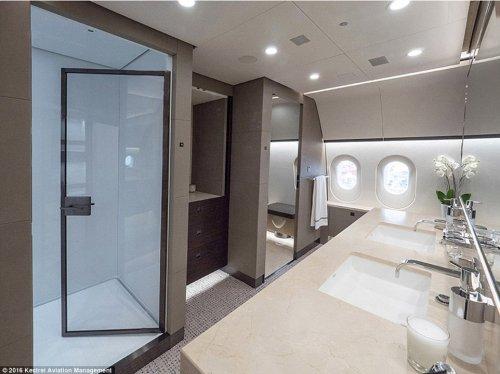 Крупнейший в мире роскошный частный самолёт Boeing 787 Dreamliner VVIP (14 фото)