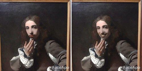 Дизайнер придал улыбку лицам на классических портретах с помощью приложения FaceApp (13 фото)