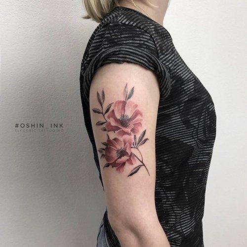 Татуировки от тату-мастера Oshin Timoshin, вдохновлённые природой (10 фото)