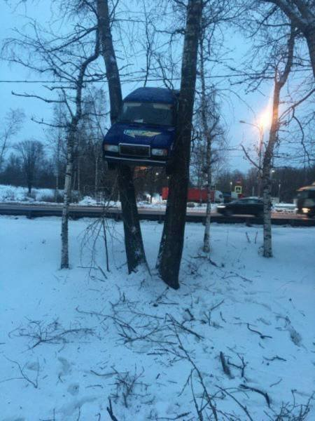 Необычные аварии и впечатляющие ДТП (25 фото)