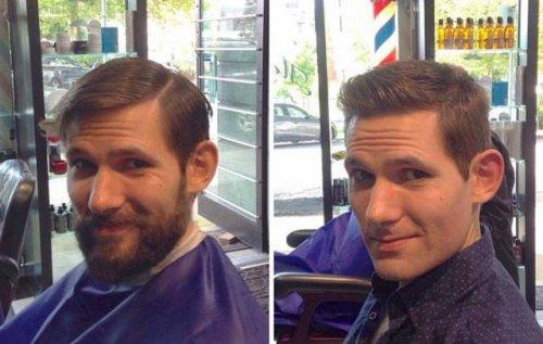 Преображение мужчин, сбривших бороду (34 фото)