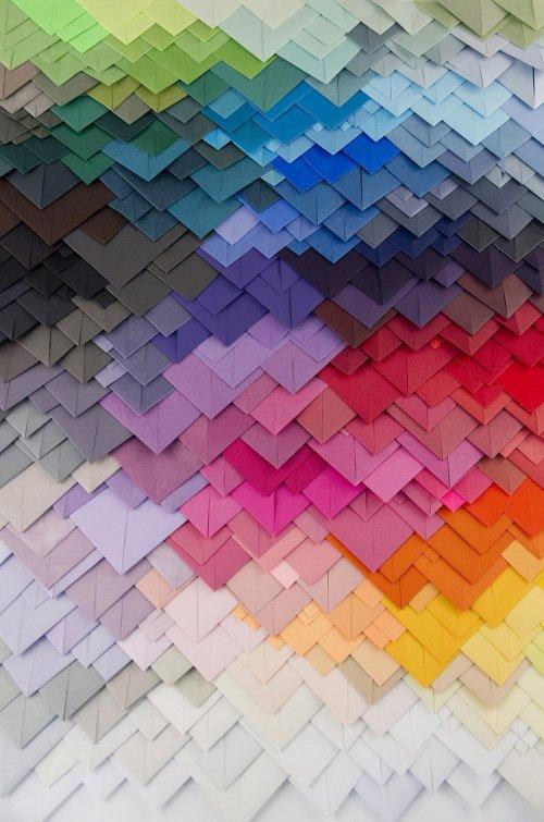 Бумажные 3-D узоры художника Мода Вантура (13 фото)