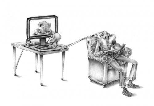 Сатирические иллюстрации, демонстрирующие проблемы современного общества (17 фото)