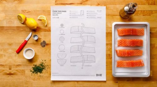 Постеры с рецептами от IKEA, облегчающие процесс приготовления (15 фото + видео)