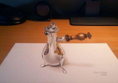Невероятно реалистичные 3D-рисунки Николы Чулича (24 фото)