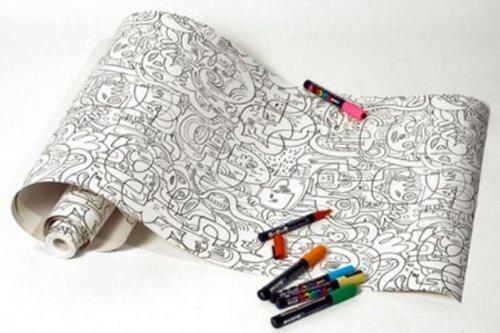 Креативные обои-раскраски от Джона Бургермана (5 фото)