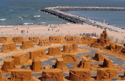 Фестиваль песчаных скульптур в Остенде (17 фото)