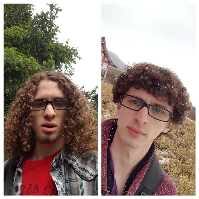 до и после короткой стрижки фото