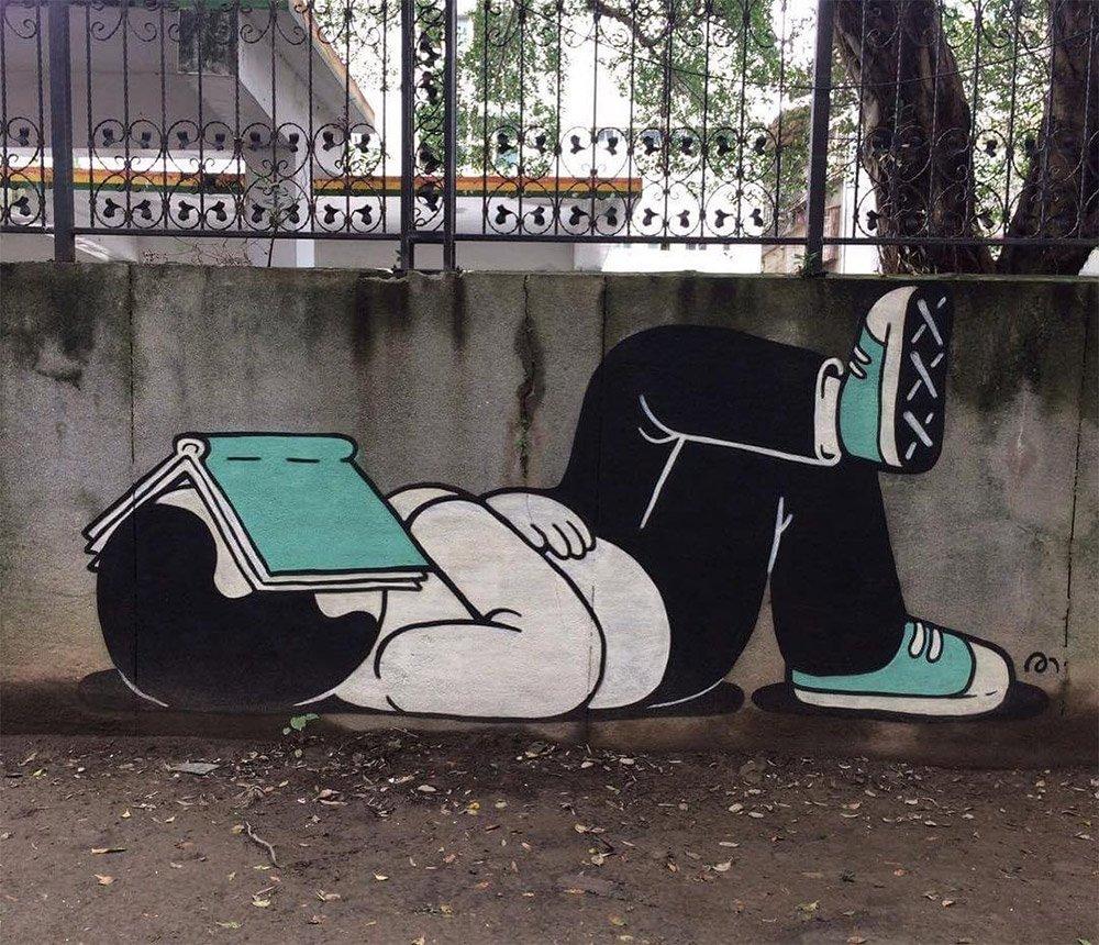 Стрит-арт от Muretz (8 фото)