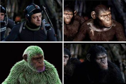 """Кадры из фильма """"Планета обезьян"""" до и после добавления спецэффектов (20 фото)"""
