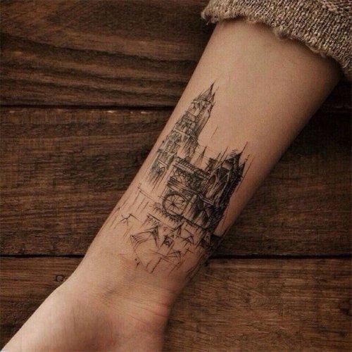 Татуировки, вдохновлённые архитектурой (25 фото)