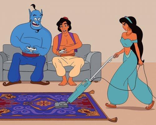 Иллюстратор перенёс диснеевских персонажей в современный мир (11 фото)