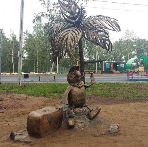 В Парке металлургов в Братске появились скульптуры любимых всеми мультперсонажей (16 фото)