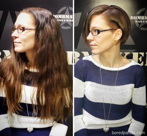 Кардинальное преображение людей, подстригших волосы (30 фото)