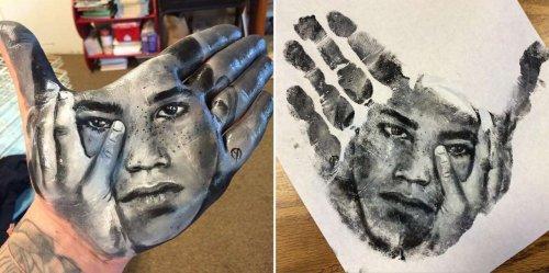 Невероятно детализованные портреты, нарисованные с помощью боди-арта (11 фото + видео)