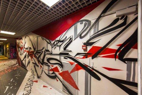 Граффити-художники превратили здание общежития в художественную галерею (17 фото)