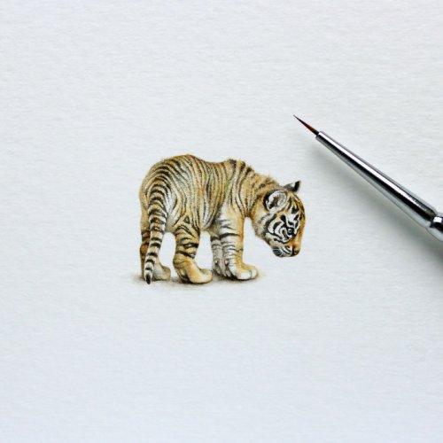 Крошечные акварельные рисунки художницы Julia Las (20 фото)