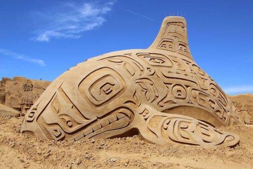 Фестиваль песчаных скульптур Søndervig Sand Sculpture Festival (18 фото)
