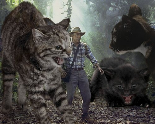 """Гигантские кошки вместо динозавров в """"Парке Юрского периода"""" (21 фото)"""