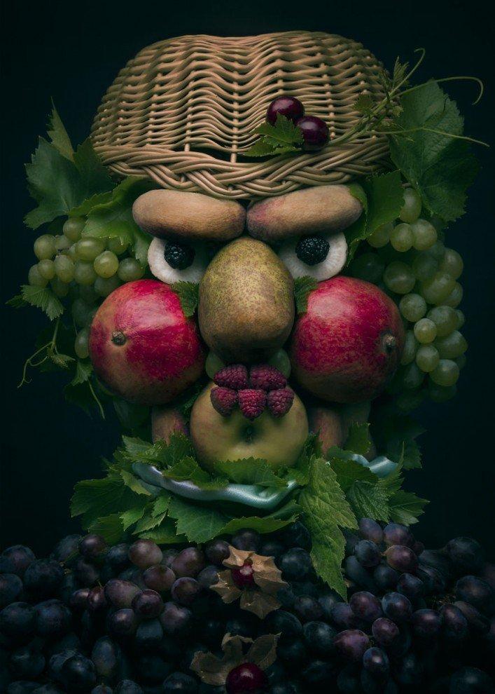 Открытки, картинки прикольных овощей и фруктов