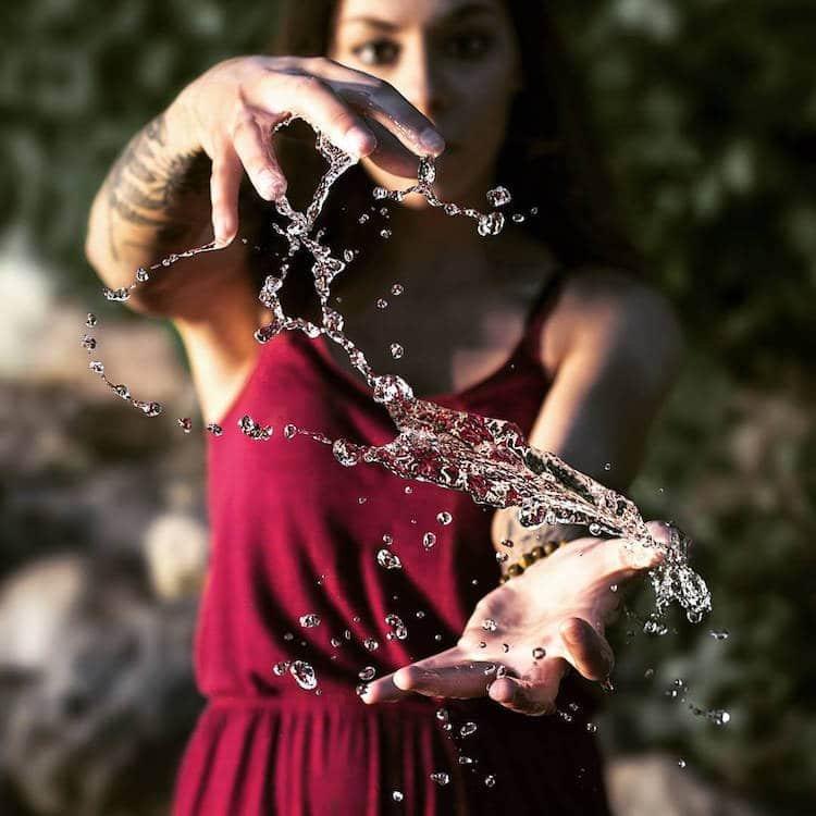 Как сделать фото брызг воды
