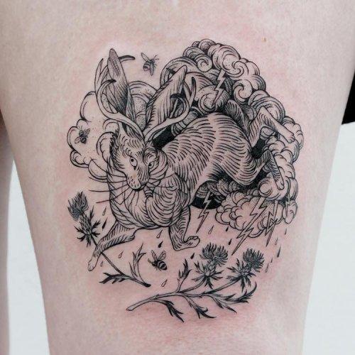 Изящные татуировки тату-мастера A-B M (19 фото)