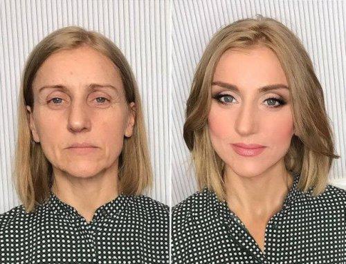 Невероятное преображение: снимки до и после нанесения макияжа (28 фото)