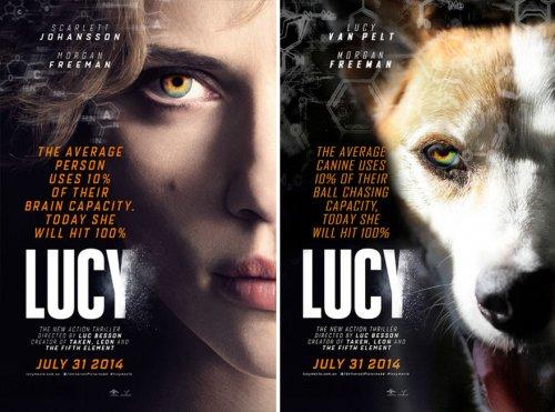 Собака Люси на постерах к известным фильмам (19 фото)