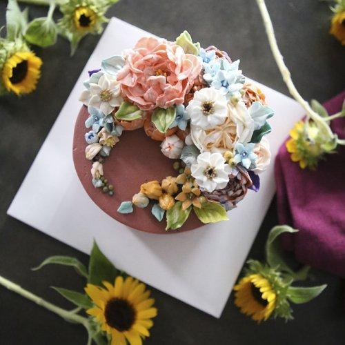 Невероятно реалистичные цветочные торты от Atelier Soo (21 фото)