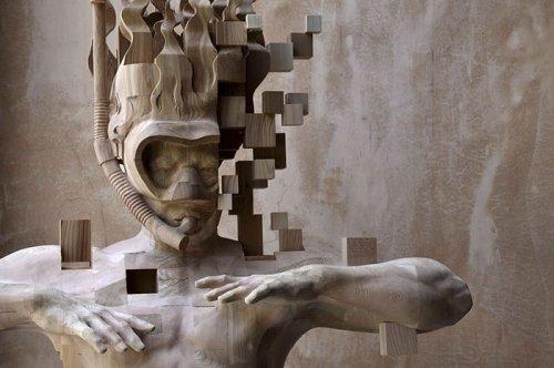 """""""Пиксельные"""" скульптуры тайского художника Хсу Тунг Хана (12 фото)"""