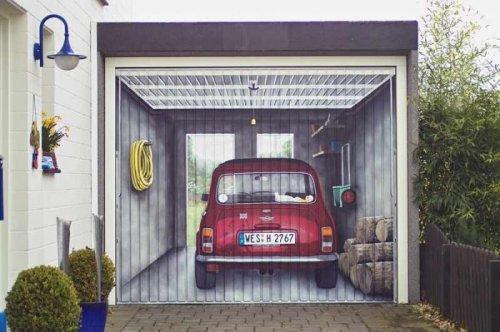 Прикольные рисунки на гаражных воротах (22 фото)