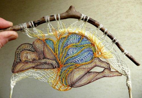 Необычные кружевные скульптуры художницы Агнес Херцег (10 фото)