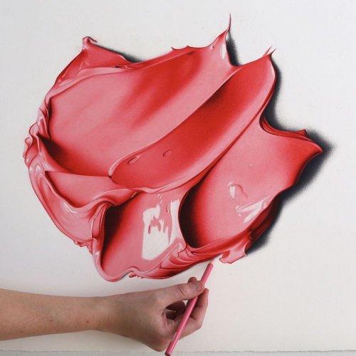 Гиперреалистичные мазки краски в работах художницы СиДжей Хендри (9 фото)