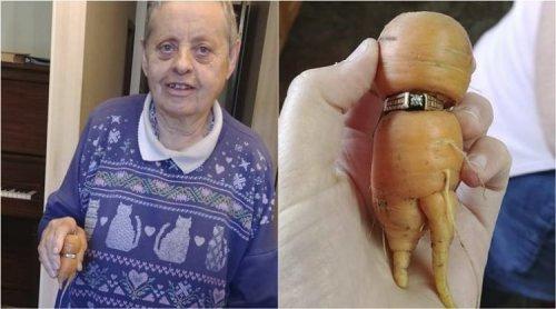 Женщина обнаружила на моркови свое обручальное кольцо, потерянное 13 лет назад (3 фото + видео)