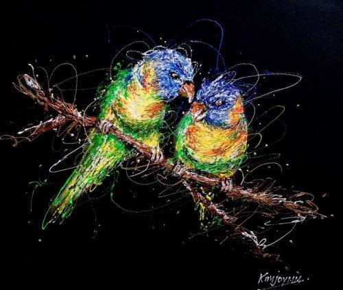 Медсестра-художница пишет картины шприцами, наполненными красками (15 фото)