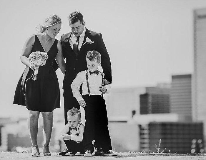 Открытка, прикольные картинки детей свадьба