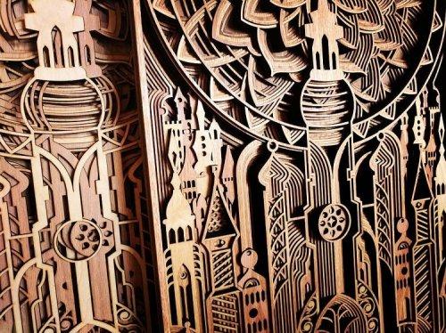 Резные деревянные картины Габриэля Шамы (15 фото)