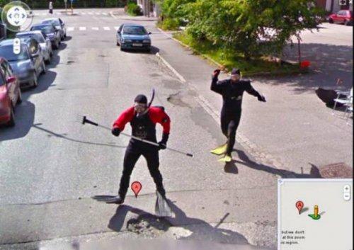 Всё самое странное и прикольное с Google Street View (26 фото)