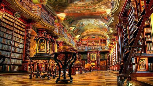 Величественная архитектура центральной библиотеки Чехии (8 фото)