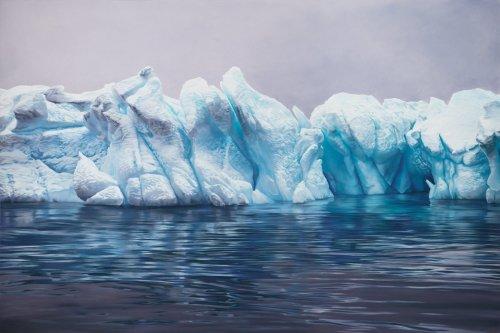 Невероятно реалистичные изображения айсбергов, созданные художницей Зарией Форман (8 фото)