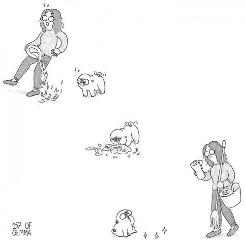 Очаровательные комиксы про то, каково жить с собакой (24 шт)