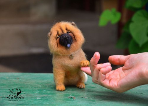 Очаровательно-реалистичные войлочные игрушки Любови Гореловой (23 фото)