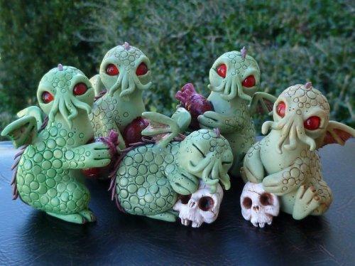 Мистические существа из полимерной глины (26 фото)