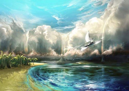 Захватывающие дух цифровые картины неба Александра Роммеля (25 фото)