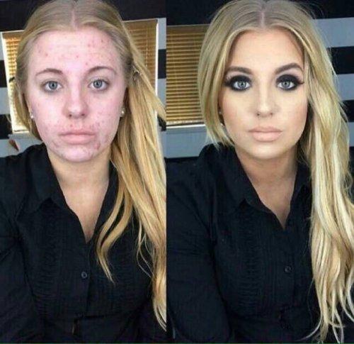 Невероятное преображение: снимки до и после нанесения макияжа (13 фото)