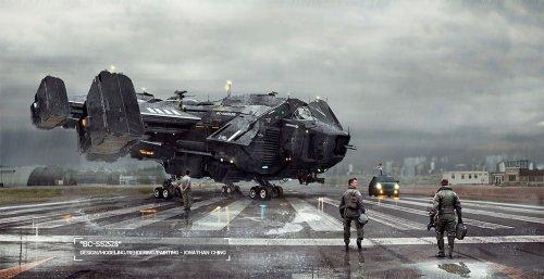 Потрясающий цифровой научно-фантастический концепт художника Джонатана Чинга (19 фото)