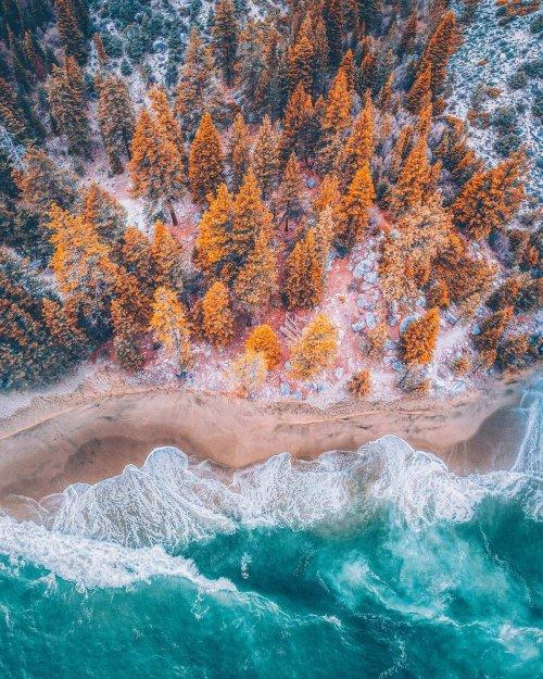 Аэрофотографии красочных пейзажей, сделанные фотографом Ниязом Уддином (6 фото)