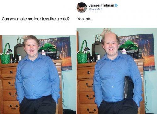 Фотошоп-троллинг от Джеймса Фридмана (12 фото)