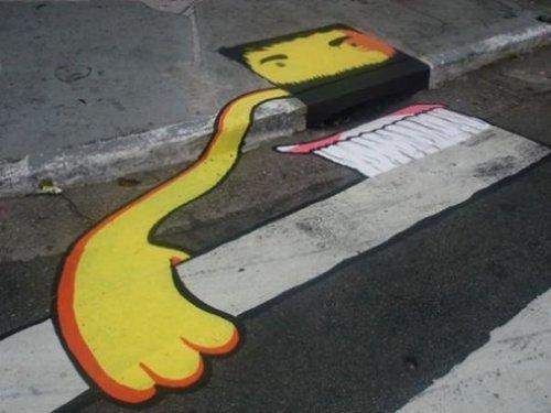 Стрит-арт художники украшают скучные городские улицы, превращая обычные объекты в искусство (33 фото)